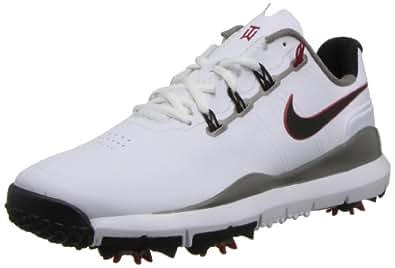 Nike Golf 2013 TW '14 Herren-Golfschuhe Größe 42 Weiß/Grau/Rot, Weiß/Grau/Rot, 41 EU / 8.5 UK / 9 US