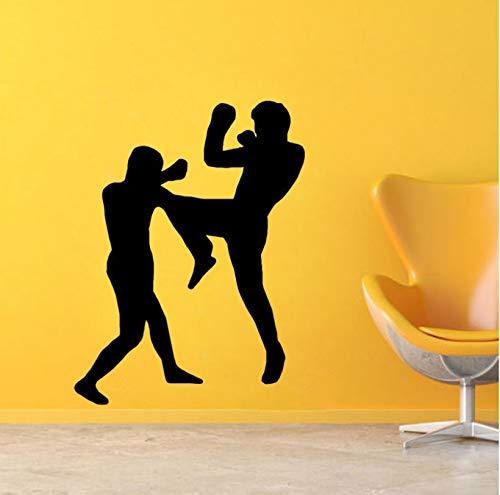 Zymkito Decoración de Boxeo de Moda Etiqueta de la Pared de PVC Sala de Estar El Dormitorio 63x48cm