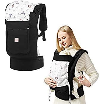7fbca58bac0 GAGAKU Soft Front and Back Baby Carrier Backpack Soft Cotton Child Carriers  for Infants Toddlers 5-48 Months - Black