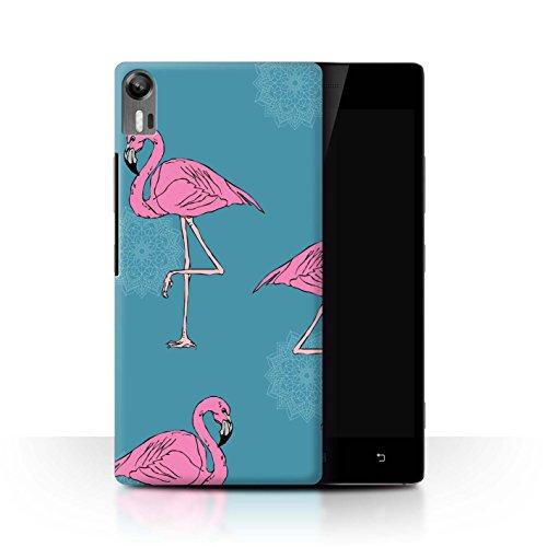 Stuff4® Hülle/Case für Lenovo Vibe Shot/Z90 / Mandala/Teal Muster/Netter Flamingo Karikatur Kollektion