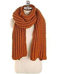 b813490eefda Nordira Écharpe pour Femme, écharpe tricotée Douce Automne-Hiver châle  Neckerchief Etole ...