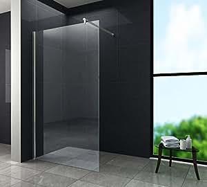Walk In 10 mm Duschwand Duschabtrennung Duschkabine Dusche 120x200 cm AQUOS