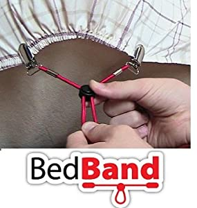 ORIGINAL Bed Band Sheet Holder. Adjustable Sheet Fastener/Holder/Strap/Suspender/Gripper