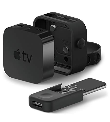elago Multi Mount Multi Wandhalterung Paket mit Remote Holder Mount Fernbedienungshalter Kompatibel mit Apple TV 4K / 4. Generation - [All-IN-ONE Kombination] [DREI Montagemöglichkeiten] [Ventilation] (Apple Remote Tv Control-fall)