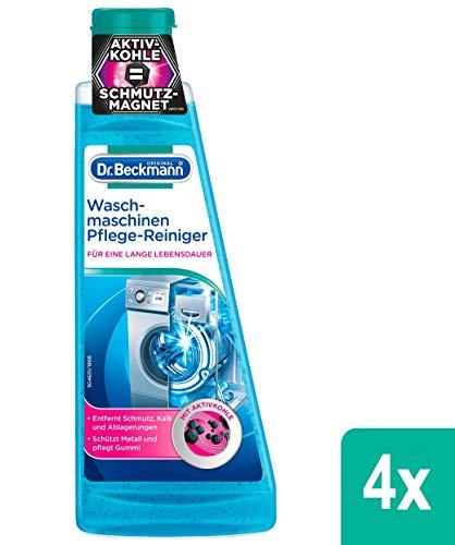 Dr. Beckmann Waschmaschinen Pflege-Reiniger, 4er Pack (4x 250 ml) | Maschinenreiniger mit Aktivkohle