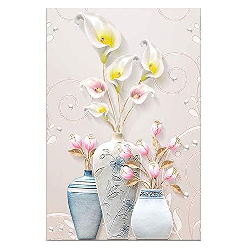 KISlink Floral Wandkunst Malerei, Topfpflanzen Drucke Auf Leinwand Blumenbilder Für Zuhause Moderne Dekoration Drucken Dekor Für Artikel (Farbe: B, größe: 70x105 cm) -
