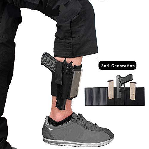 Gexgune Nylon schwarz Magazin Tasche Knöchel Bein verdeckt Tragen Glock 19 26 27 42 43 Pistole Ruger Sig Taktische (Verdeckte Holster Ruger Lc9)