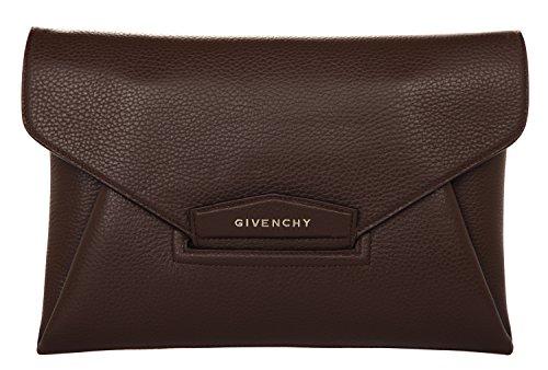 Givenchy Envelope GIV074 Damen Clutch Schwarz-Braun-Weiß 31x21x3 (Givenchy Braun Leder)