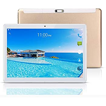 Tablet 10 Pulgadas Fire HD, 10.1Tablets PC(3G, WiFi, Android 8.1, Octa Core, 4 GB de RAM, 64 GB de ROM, GPS, Dual SIM Card, 1080P) , Gold