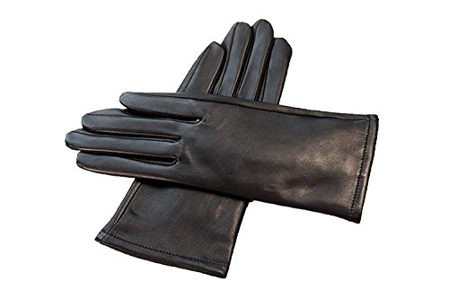 (Neue Damen Lange Fingerlose Handschuhe Blumen Wärmen Parteien Arm Sets Und Herbst Winter Unikat Style Blue Fäustlinge (Color : Schwarz, Size : L))