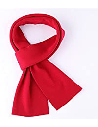 XIAOLIN-- Scarf Men Solid Color Knitted Scarves Black / Gray / Red --Outdoor warm scarf ( Color : Red )