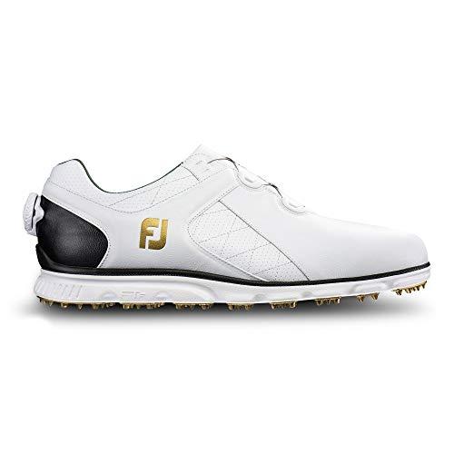 Footjoy New Pro SL Boa ohne Golf Schuhe mittel (Pick Größe/Farbe), Herren, White, White/Black, 11 M US -