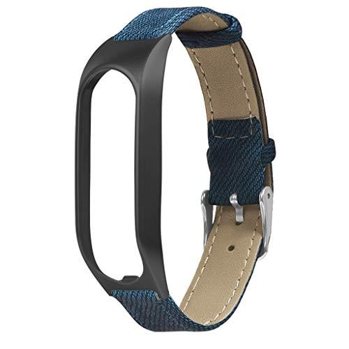 Denim-armband (Für Tomtom Touch Armband,Denim Armbänder Uhrenarmbänder kompatibel Metallgehäuse Schnellspanner SmartWatch Schlaufe Uhrenarmband Smartwatch Ersatzarmband (Blau))