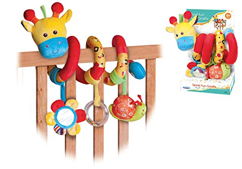 Baby Activity Trapez Giraffe Spirale für Autositz Gitterbett