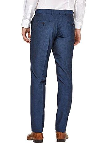 next Uomo Completo Misto Ad Alto Contenuto Di Lana: Pantaloni Vestibilità Slim Blu