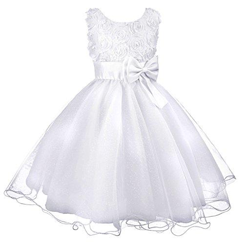 3D Blume Mädchen Kleid Kinder Kleider Prinzessin Festkleid Hochzeit Brautkleid Geburtstag Abendkleid Kommunionskleid von Discoball® (Kleider Kinder Hochzeit)