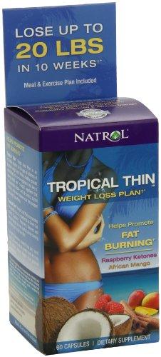Natrol, Tropical Thin mit afrikanischen Mango, Grüner Tee, Grüner Kaffee Raspberry Ketone, 60 Kapseln