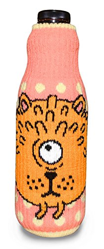 KIT-RAY Lustiges Monster Mr.PINK/Mr.RED/Mr.ORANGE/Mr.Happy/Mr.SAD Flaschenabdeckung Flasche Koozie Bottle by CUP OF SOX (Hellrosa)