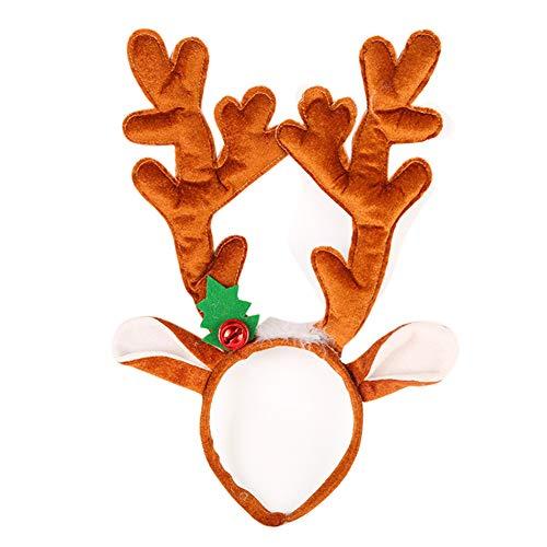 Weihnachten Hairband, Fancy Antlers Elf Jingle Bells Kopf Hoop Kostüm Zubehör hellKamel
