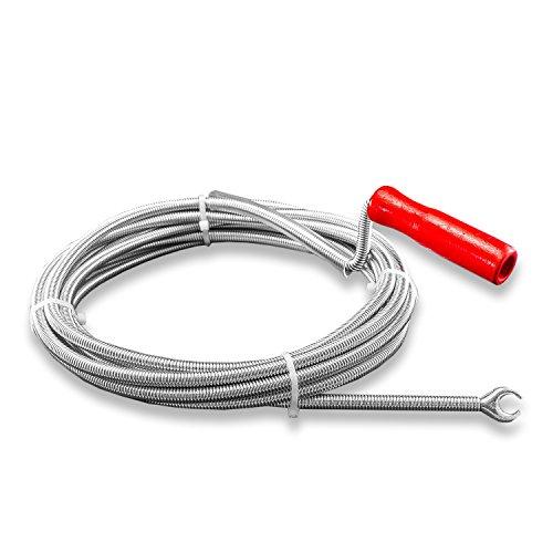 Nirox N3106 Rohrreinigungsspirale, 9mm x 5m, für Siphon & Abfluss in Bad oder Küche