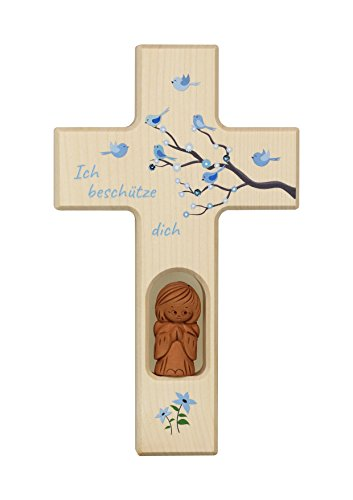 Neumeyer N 509 Kinderkreuz Holz, Natur, 20 x 12 x 2 cm