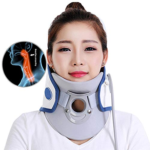 GxNImer Cervical Collar Air Traction Device-Neck Adjustable Traction Device Care Orthosis Vertebrae Support Belt for Neck and Upper Back Pain, zziness and Limb Numbness