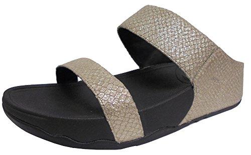 Fitflop Lulu (Snake) Slide, Sandali da Donna Argento