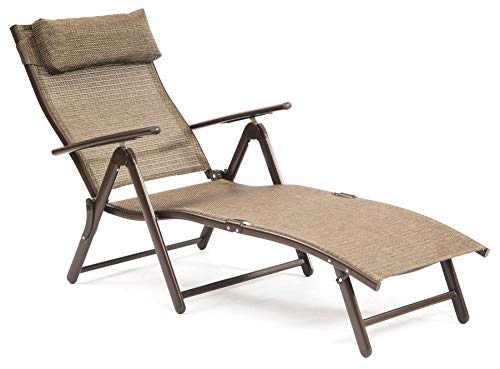 Suntime Havana Foldable Reclining Sun Lounger - Bronze