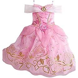 Ninimour Vestido de princesa Grimm's Fairy Tales Disfraces para Halloween Cosplay Costume para Niñas (130, Cinderella#1)