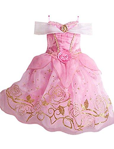Ninimour Vestido de princesa Grimm's Fairy Tales Disfraces para Halloween Cosplay Costume para Niñas (140, Cinderella#1)