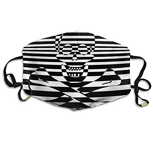 Daawqee Staubschutzmasken, Psychedelic Skull Printed Mask Neutral Mask Men Women Polyester Dust-Proof Breathable Mask