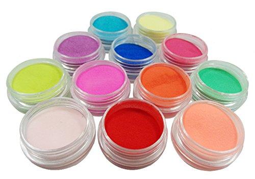 12 pièces de poudre de poussière de paillettes pour la décoration des ongles-FashionLife Nail Sticker Tatto - FashionLife