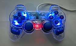 Technotech USB Double Vibration Gamepad Joypad Transparent for PC (Color May Vary)