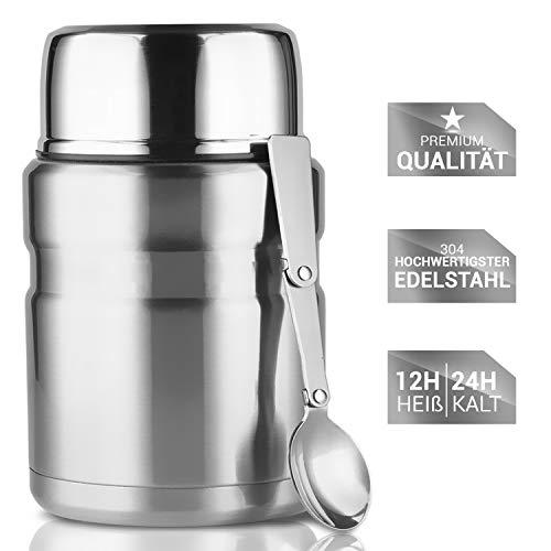 Lacari  auslaufsicherer Thermobehälter für Essen und Flüssigkeiten -...