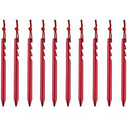 Azarxis Estacas de Tienda de Campaña Heavy-Duty Clavijas Piquetas de Camping para Toldo Lona Refugio Tienda de Campaña (Rojo - Y - 18cm)