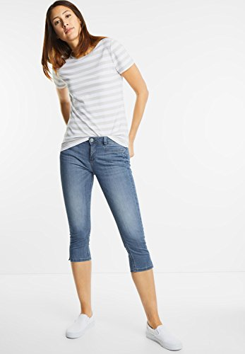 Street One Damen Slim Fit Capri York blue washed (blau)