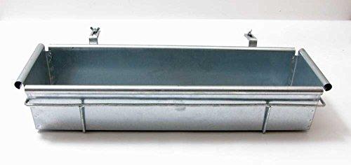Balkonkasten 60 cm mit Halterung verstellbar Metall voll verzinkt Blumenkasten (Metall Blumenkasten)