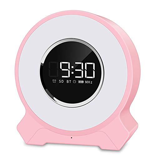 OMJNH LED-Augenlicht, Alarm Wake-up-Licht drahtloser Bluetooth-Lautsprecher pat