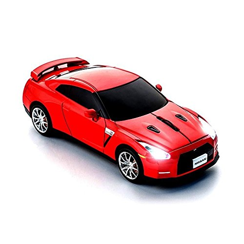 click-car-nissan-gt-r-r-35-wireless-mouse-gold-flake-red