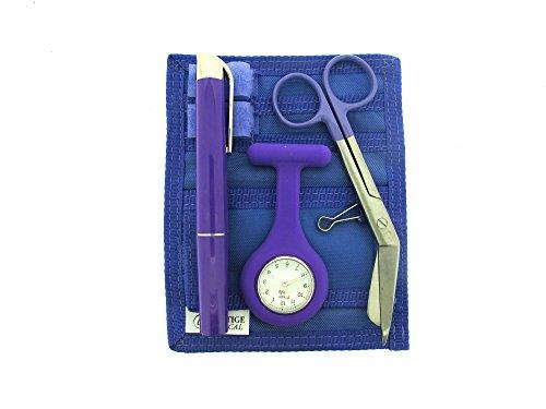Medizinisches Geschenkset mit Taschenuhr für Krankenschwester, Hebamme und Arzt, Violett (Personal Care Krankenschwester Kostüm)