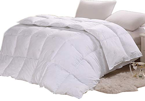 YXDDG Weiß gesteppt tröster Ganzjahres daunendecke Alternative Premium Baumwolle tröster Luxus Flauschige Reversible Hotel Sammlung allein-Weiß 220x240cm(87x94inch) -
