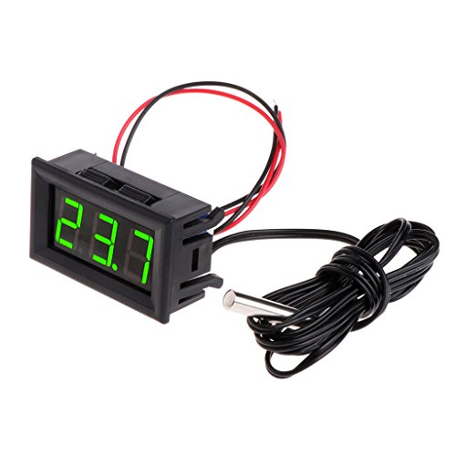 Kalttoy 50~110 ° C DC 12 V Digital LED Thermometer Auto Temperatur Monitor Panel Meter (Grün)