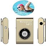 Dxyap Waterproof MP3 Player 16GB Clip Sport Portable Lossless Sound Hi-Fi Music Player