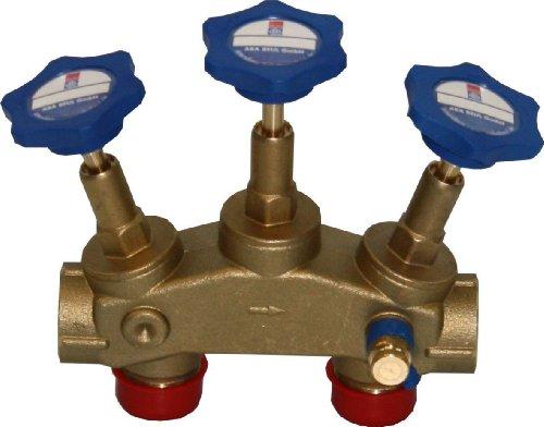 Montageblock für Wasserenthärtungsanlagen