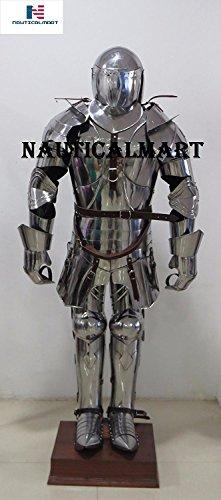 Nautisches Mart Spanisch Knight Farbe der Mittelalterliche Armor tragbar Halloween-Kostüm (Ironman-halloween-kostüm)