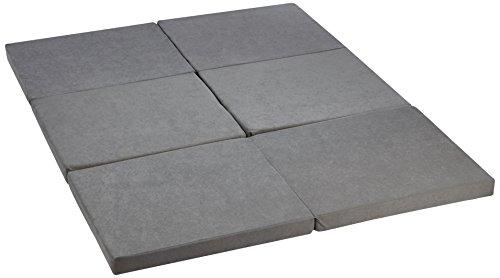 Gigapur 25793 Twin Doppel-Klappmatratze, Liegefläche 150 x 195 cm, grau mit Husse in Pfeffer & Salz
