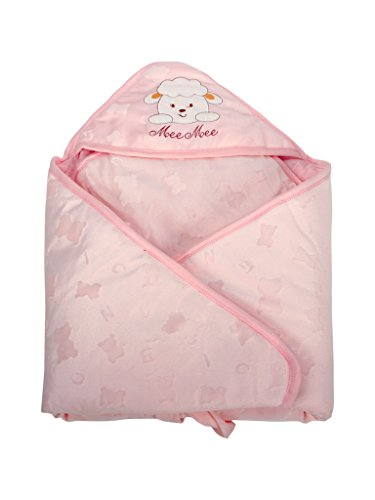 Mee Mee Cozy Baby Wrapper Blanket with Hood (Pink)  available at amazon for Rs.839