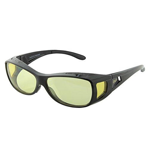 DUCO Blaufilterbrille Blaulicht und UV Schutzbrille Computerbrille Gaming Brille Überziehbrille für Brillenträger Fit-over Brille 8953L