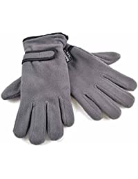Ladies Warm Fleece Winter Gloves Thermal Thinsulate Lined & Wrist Strap GL49