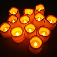 Set di 12 Lumini Con Candela a